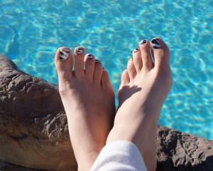 Zebra print toe's (Spring has sprung)