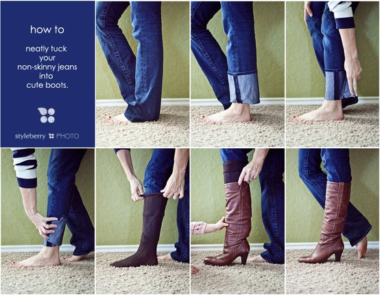 OMG! How to Tuck Non-skinny Jeans into Boots – Drama Queen Seams