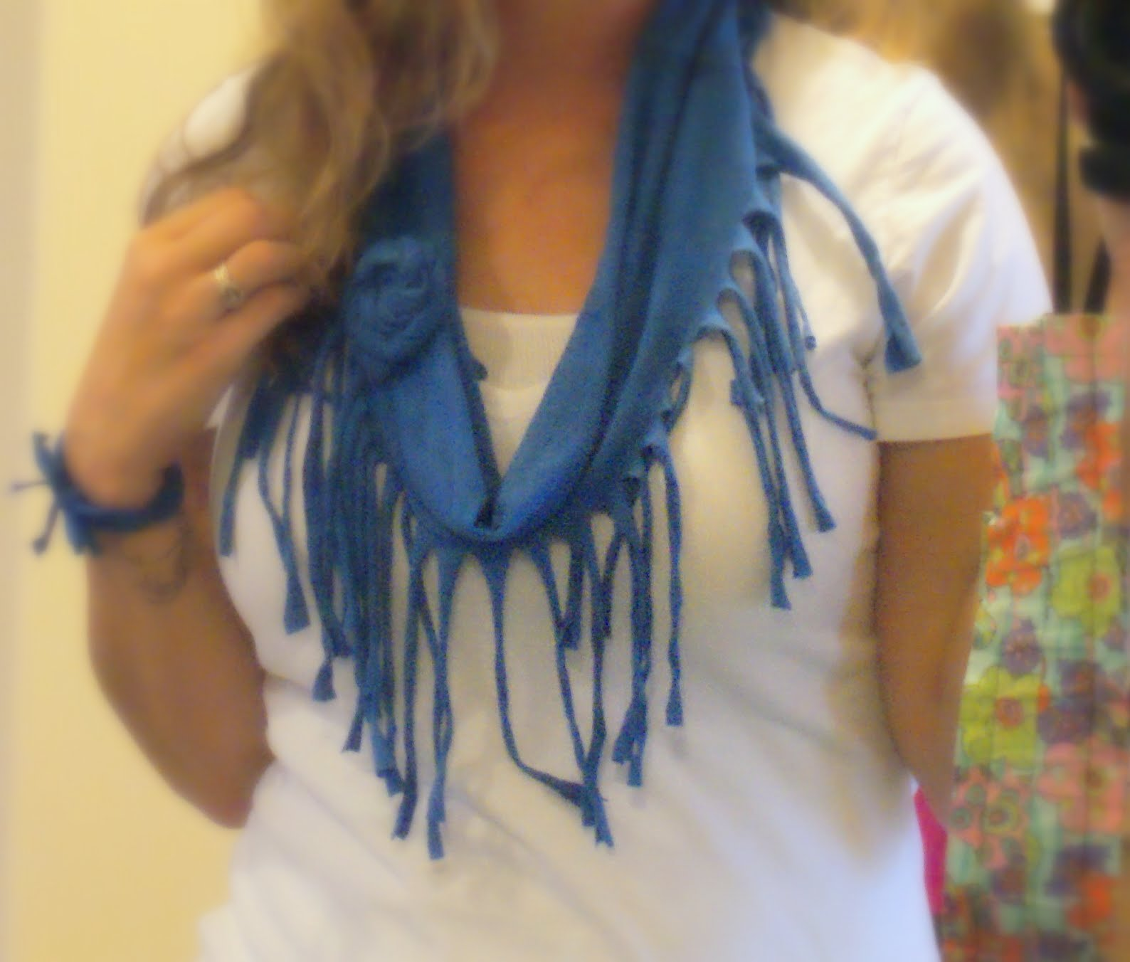 a t shirt scarf for your t shirt drama seams
