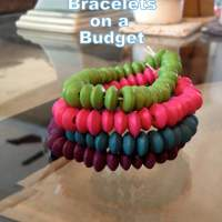 Colorful Wooden Bead Bracelets on a Budget