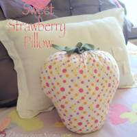 Sweet Strawberry Pillow