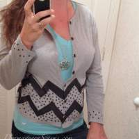 Updated Chevron & Polk a dot cardi