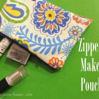 Zippered make-up pouch