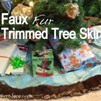 Faux Fur Trimmed Tree Skirt