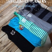 Pretty Embellished Pockets (30 days of T~shirts)