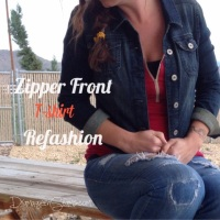 Zipper Front T-shirt Refashion