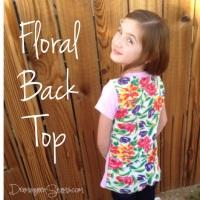 Floral Back Top