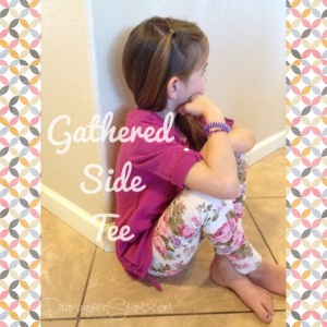 Gathered Side Tee Refashion