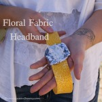 Floral Fabric Headbad