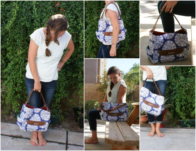 Laminated cotton diaper bag