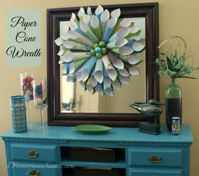 paper cone wreath
