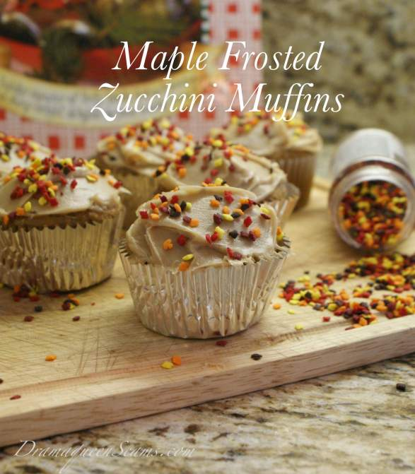 Maple frosted zucchini muffins